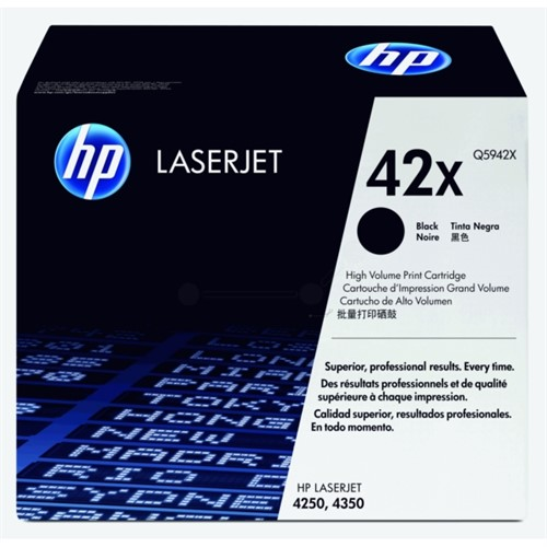 HP Toner Black 20000sheets for LJ 4250 and 4350 - Q5942Xdge 20K pages