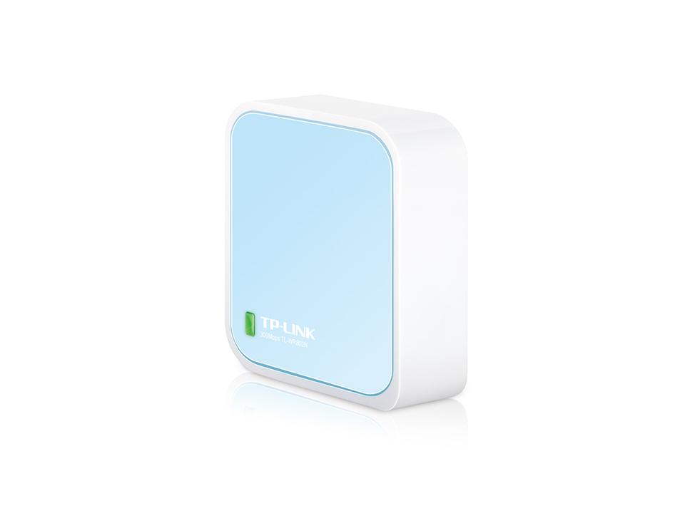 TP-LINK TL-WR802N router inalámbrico Banda única (2,4 GHz) Ethernet rápido Azul, Blanco