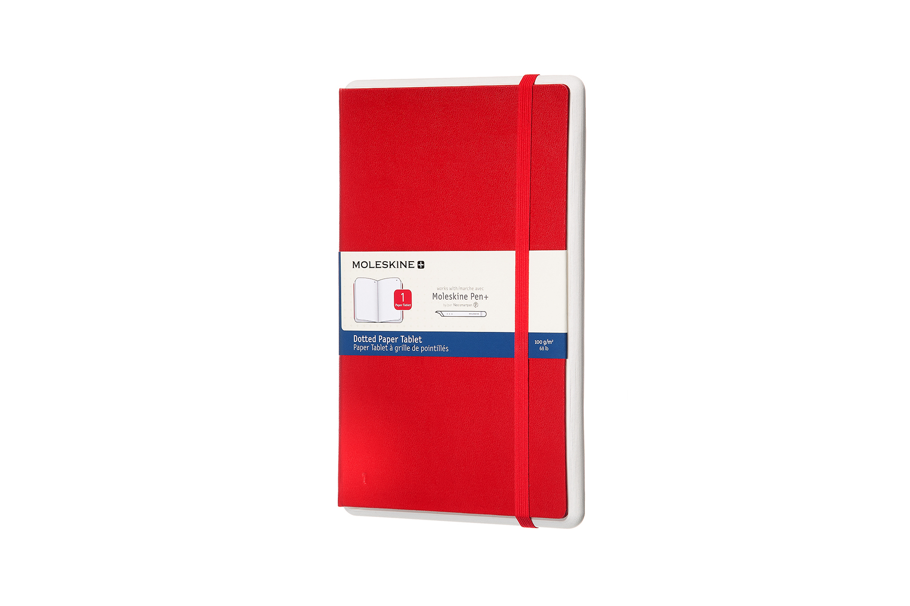 Moleskine PTNL34HF201 writing notebook Red 176 sheets