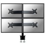 "Newstar FPMA-D700D3 27"" Black flat panel desk mount"