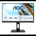 "AOC P2 U27P2 LED display 68.6 cm (27"") 3840 x 2160 pixels 4K Ultra HD Black"