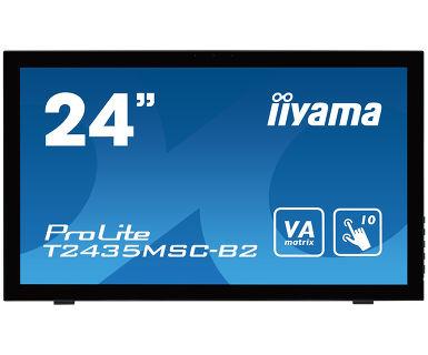 "iiyama ProLite T2435MSC-B2 23.6"" 1920 x 1080pixels Multi-touch Black touch screen monitor"