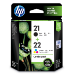 HP SD367AE (21+22) Printhead cartridge multi pack, 360 pages, 190pg + 165 pg, Pack qty 2