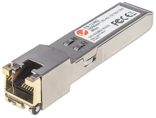Intellinet Gigabit RJ45 Copper SFP Optical Transceiver Module, 1000Base-T (RJ-45) port, 100m, Equivalent to Cisco GLC-T, Three Year Warranty