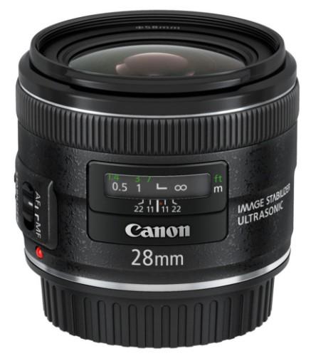 Canon EF 28mm f/2.8 IS USM SLR Wide lens Black