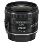 Canon EF 28mm f/2.8 IS USM SLR Objetivo ancho Negro