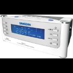 Sangean AM/FM/Aux Atomic Clock Radio Clock Silver Clock/Portable Radio