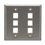 Black Box WP375 wall plate/switch cover Stainless steel