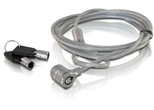 DeLOCK Notebook security lock with key cable lock 1.8 m