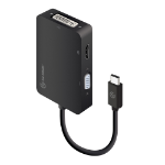 ALOGIC 3-in-1 USB-C to HDMI DVI VGA Adapter - Male to 3-Female