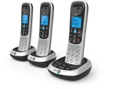 British Telecom BT2700 Nuisance Call Blocker Trio DECT telephone Caller ID Black, Silver