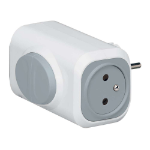 C2G 80806 Indoor 2AC outlet(s) Grey,White power extension
