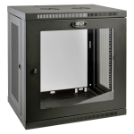 Tripp Lite 12U SmartRack Wall-Mount Rack Enclosure Server Cabinet with Clear Acrylic Door, Low-Profile Switch-Depth