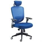 Arista Mesh High Back Task Chair H/Rest Blue