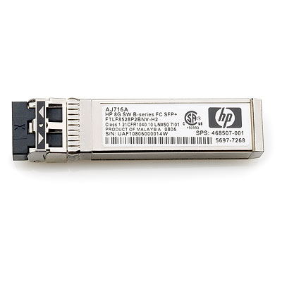 Hewlett Packard Enterprise 8Gb SW SFP+ 4-pack network transceiver module Fiber optic 8000 Mbit/s SFP+
