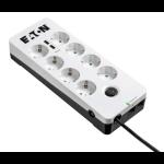 Eaton PB8TUD limitador de tensión 8 salidas AC 220-250 V Negro, Blanco