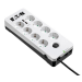 Eaton PB8TUD limitador de tensión 8 salidas AC 220 - 250 V Negro, Blanco 1,5 m