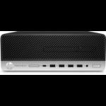 HP ProDesk 600 G5 8th gen Intel® Core™ i5 i5-8500 8 GB DDR4-SDRAM 256 GB SSD SFF Black PC Windows 10 Pro