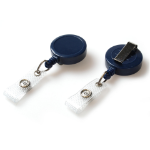 Digital ID Dark Blue Card Reel With Re-Inforced Strap Clip - Pack of 50