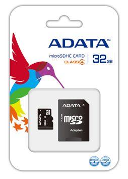 ADATA AUSDH32GCL4-RM3BKBL 32GB MicroSDHC Class 4 memory card