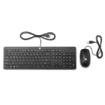 HP Slim USB Keyboard & Mouse QWERTY English Black