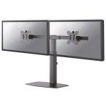 """Newstar Tilt/Turn/Rotate Dual Desk Mount (stand) for two 10-27"""" Monitor Screens, Height Adjustable - Black"""