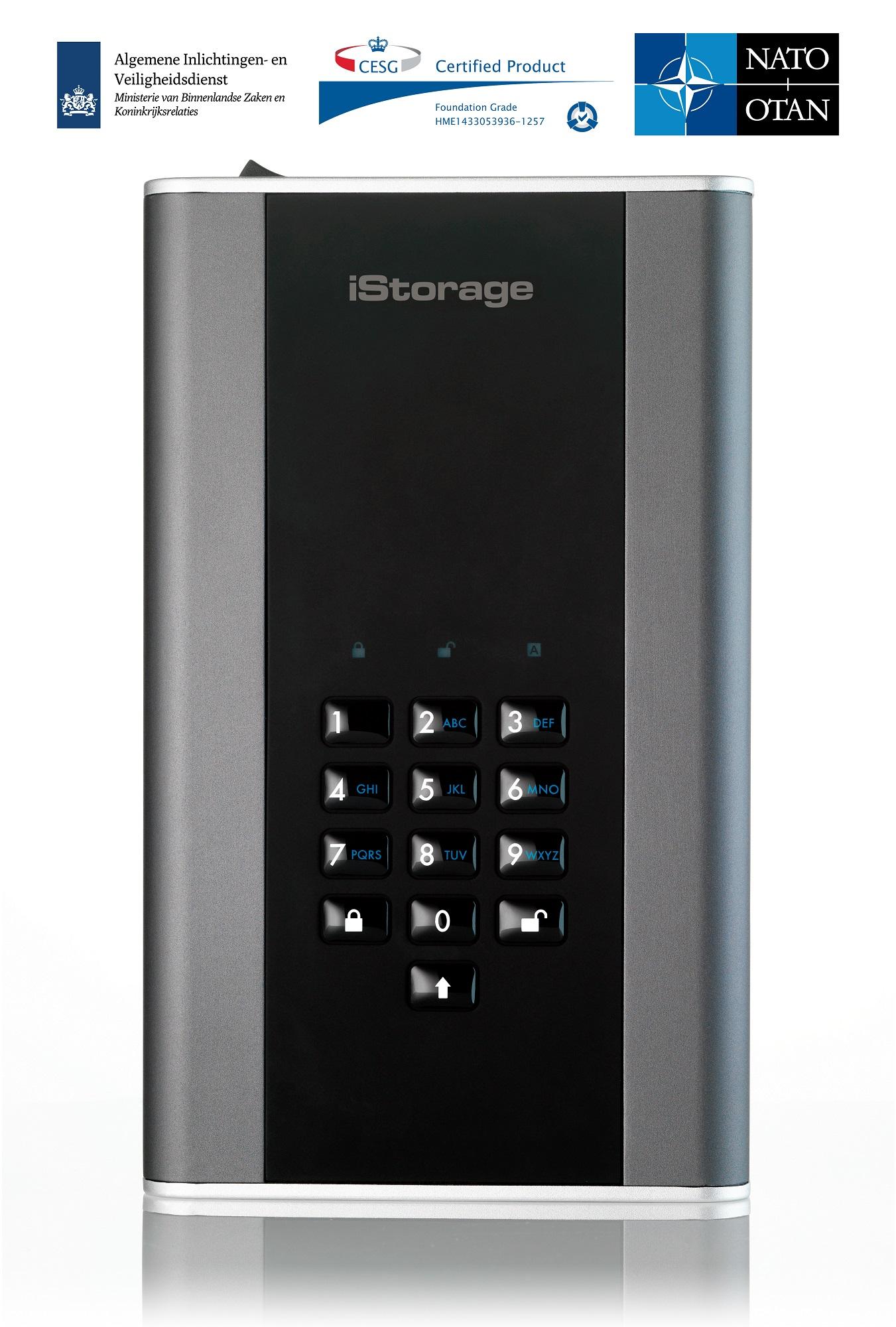 iStorage diskAshur DT2 14TB Graphite