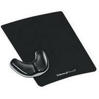 Fellowes Health-V Crystal Gliding Palm Support Black