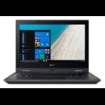 "Acer TravelMate Spin B1 TMB118-RN-C4HX 1.1GHz N3450 11.6"" 1920 x 1080pixels Touchscreen Black Hybrid (2-in-1)"