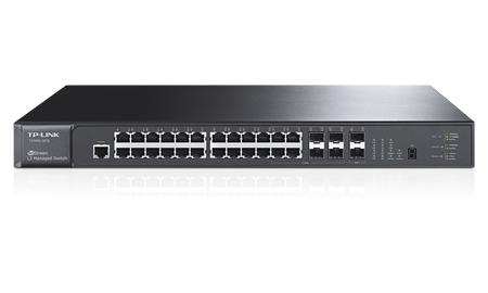 TP-LINK T3700G-28TQ network switch Managed L3 Gigabit Ethernet (10/100/1000) Black 1U
