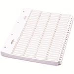 Concord Classic Index Mylar-reinforced Punched 4 Holes 1-100 A4 White Ref 05701/CS57