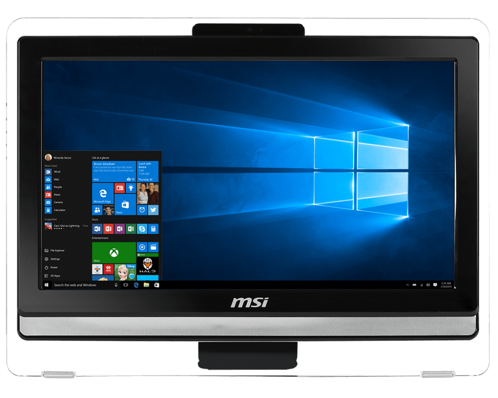 "MSI PRO 20ET 1.6GHz N3160 19.5"" 1600 x 900pixels Touchscreen Black All-in-One PC"