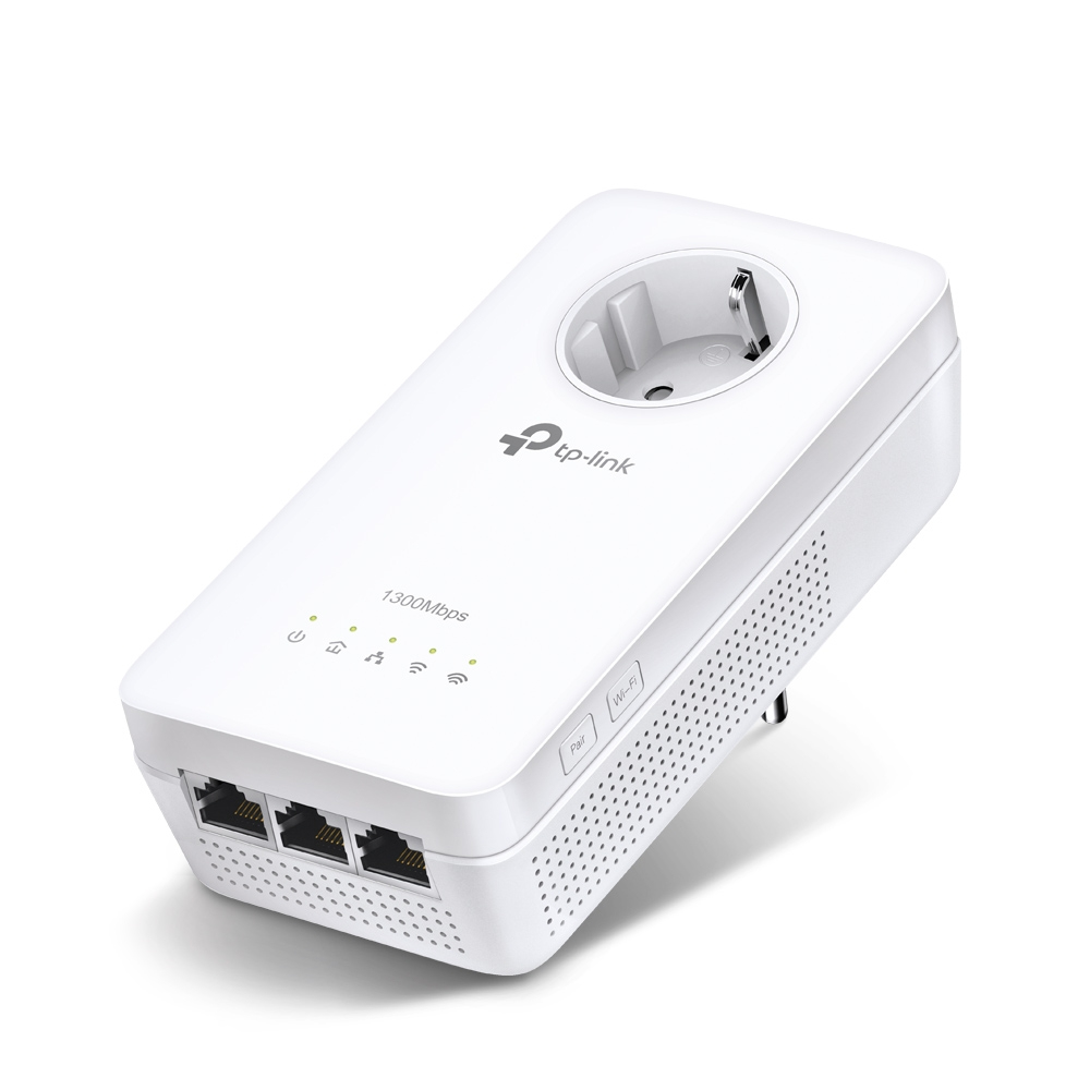TP-LINK TL-WPA8630P PowerLine network adapter 1300 Mbit/s Ethernet LAN Wi-Fi White 1 pc(s)