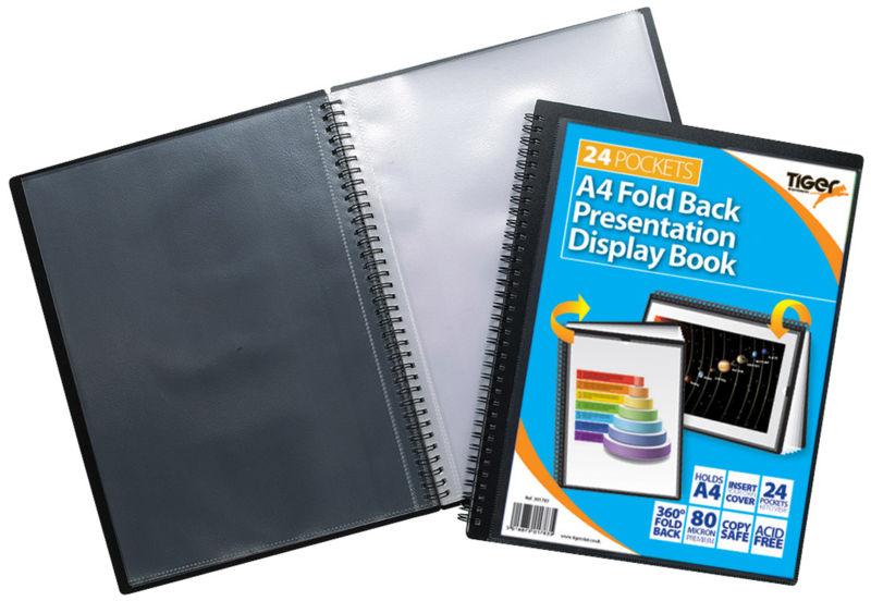 Tiger A4 Fold Back Display Book 24 Pocket