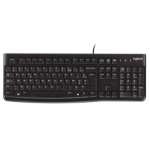Logitech K120 keyboard USB AZERTY Belgian Black