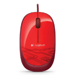 Logitech M105 USB Optical Ambidextrous Red mice