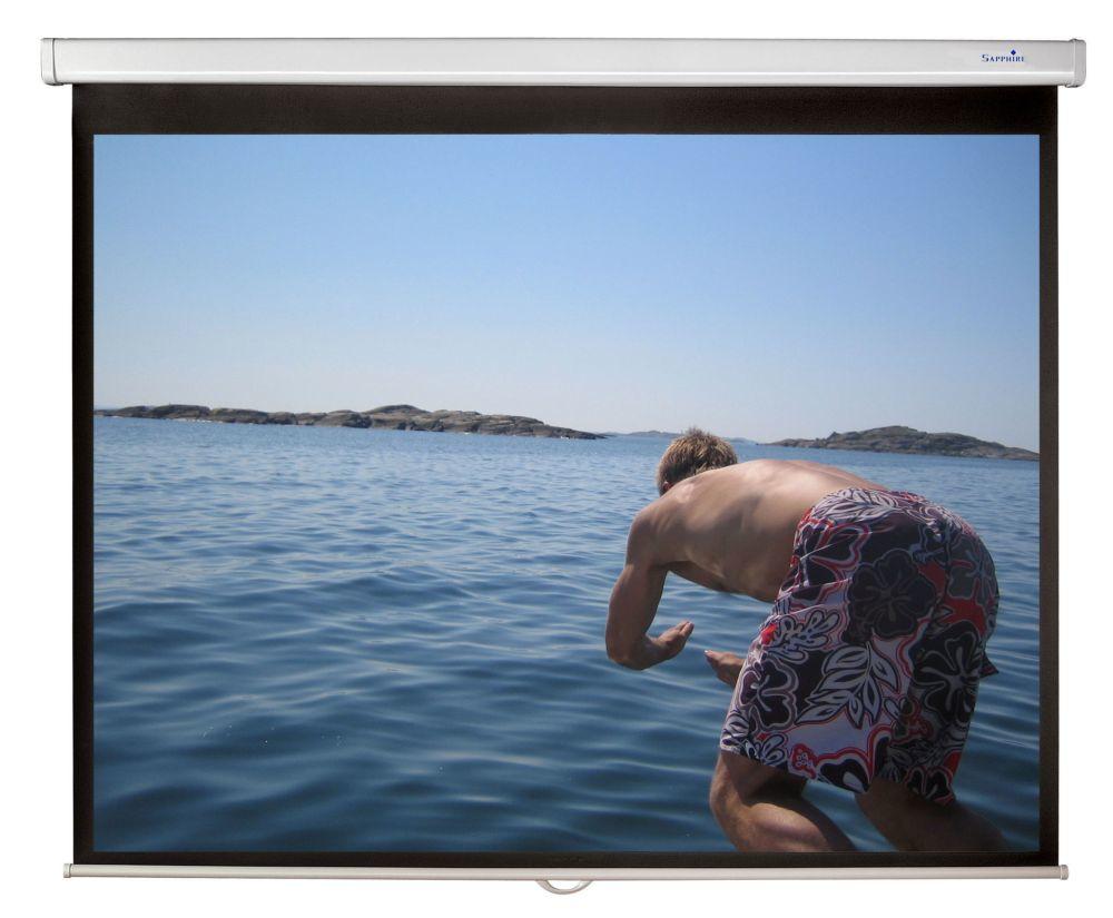 Sapphire - Value - 203cm x 203cm - 1:1 Manual Projector Screen