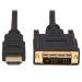 Tripp Lite P566AB-006 Safe-IT HDMI to DVI-D Single-Link Antibacterial Adapter Cable (M/M), 1080p 60 Hz, Black, 6 ft. (1.8 m)