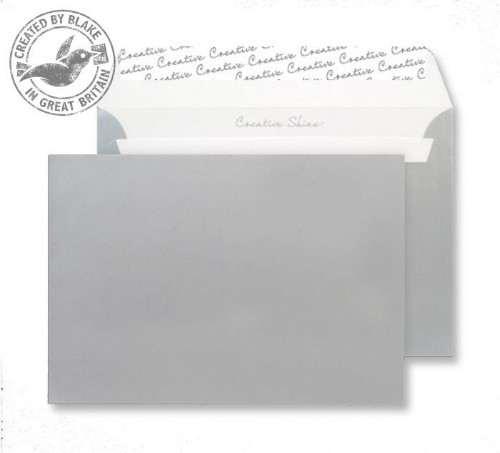 Blake Creative Shine Wallet Peel and Seal Metallic Silver C5 162×229mm 130gsm (Pack 25)