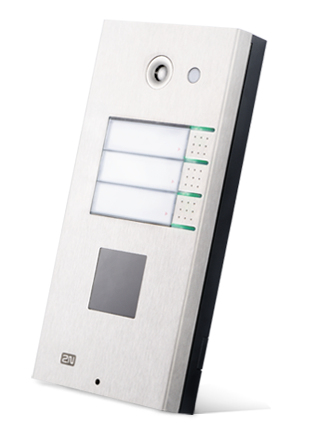 2N Telecommunications Helios Silver door intercom system