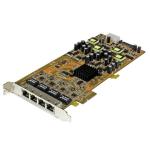 StarTech.com 4-poorts gigabit Power over Ethernet PCIe-netwerkkaart PSE / PoE PCI Express NIC