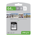 PNY Elite memory card 64 GB SDXC Class 10 UHS-I P-SD64GU1100EL-GE
