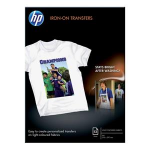 HP Iron-on Transfers-12 sheet/A4/210 x 297 mm - White - Official by HP (C6050A)