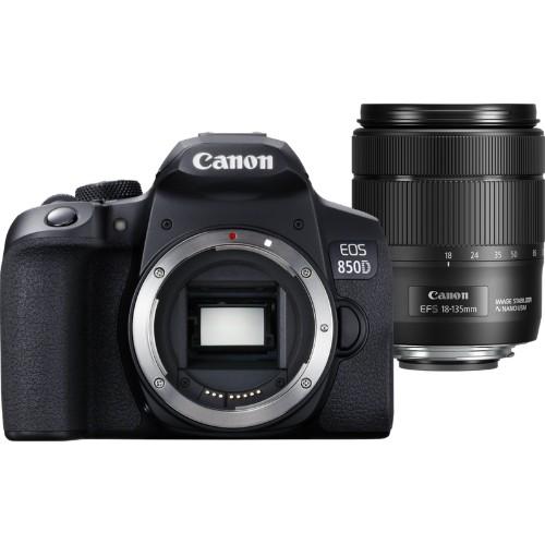 Canon EOS 850D + EF-S 18-135mm f/3.5-5.6 IS USM SLR Camera Kit 24.1 MP CMOS 6000 x 4000 pixels Black