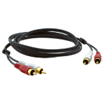"Kramer Electronics C-2RAM/2RAM-3 audio cable 35.4"" (0.9 m) 2 x RCA Black"