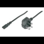 ASSMANN Electronic AK-440116-018-S power cable Black 1.8 m Power plug type G C7 coupler