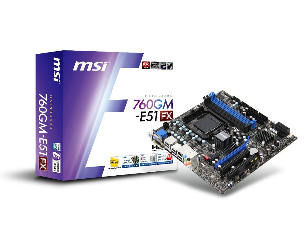 MSI 760GM-E51 (FX) motherboard