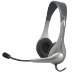 Cyber Acoustics AC-202b Binaural Wired Black,Silver mobile headset