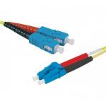 Hypertec 393187-HY fibre optic cable 0.5 m SC LC OS2 Yellow