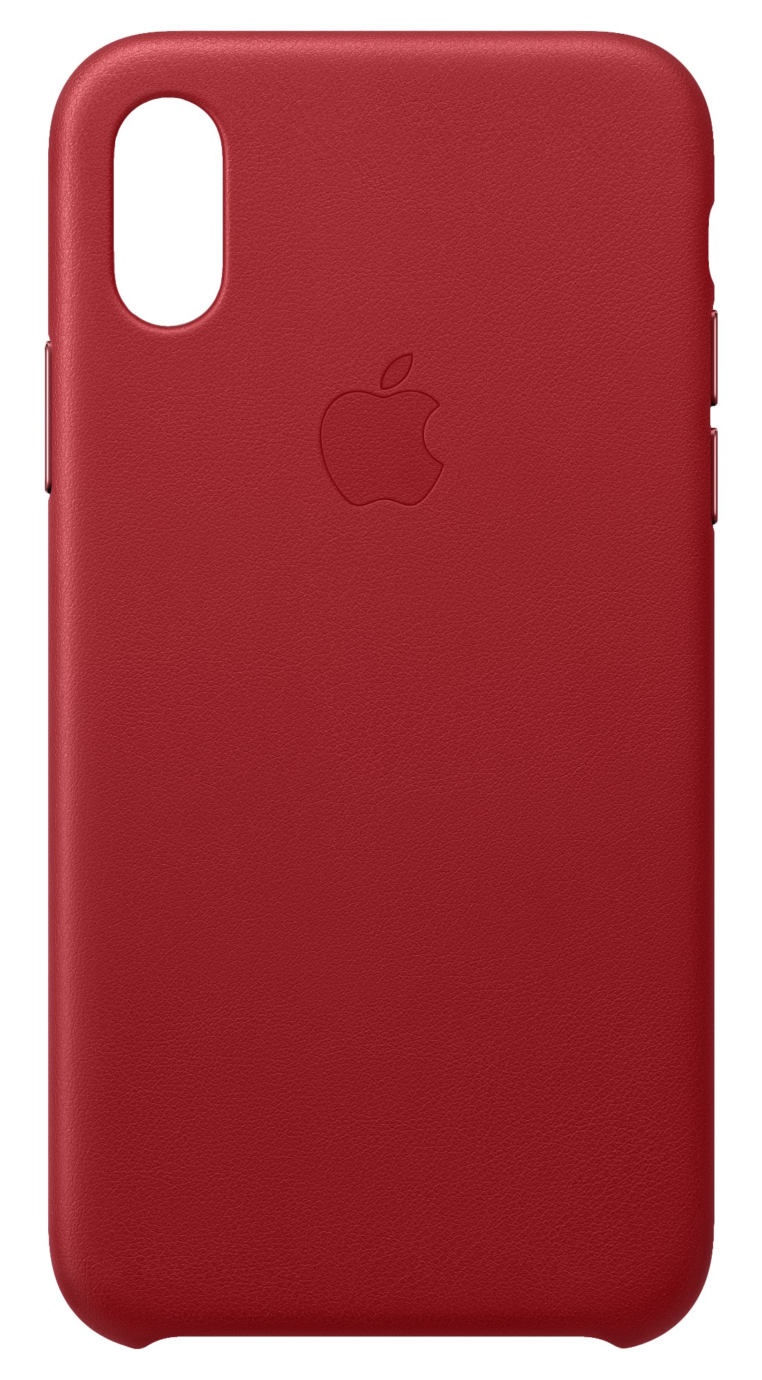 iPhone Xs - Leather Case - Red